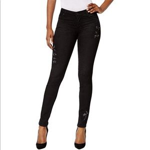 Kut From The Kloth Black Jeans Diana Embroidered